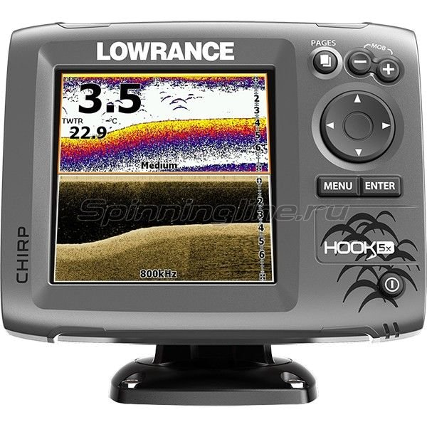 Эхолот Lowrance Hook-5x Mid/High/DownScan - фотография 1