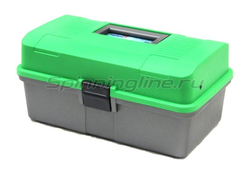 Ящик рыболовный двухполочный зеленый Helios -  1