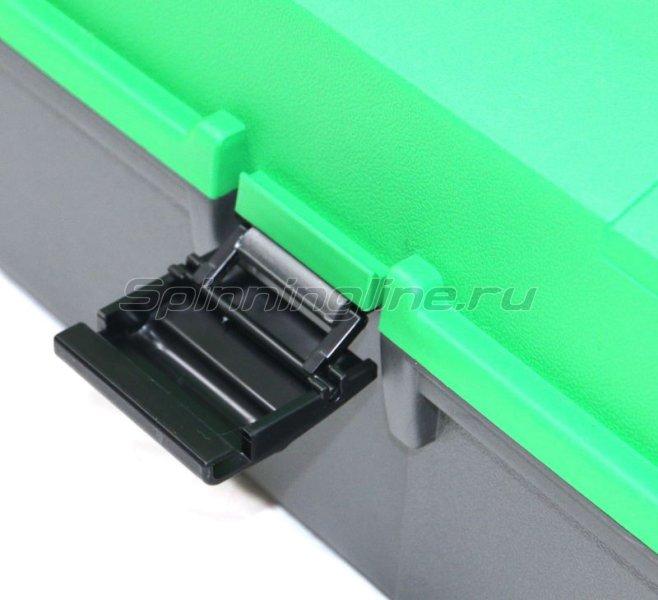 Ящик рыболовный двухполочный зеленый Helios -  2