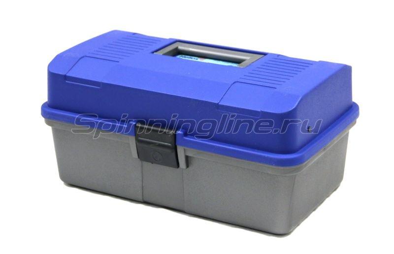Тонар - Ящик рыболовный двухполочный синий Helios - фотография 1