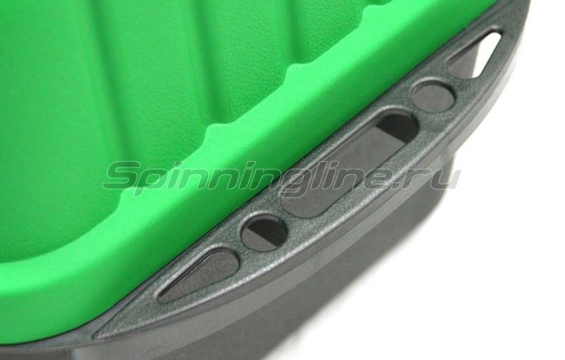 Ящик рыболовный трехполочный зеленый Helios -  2