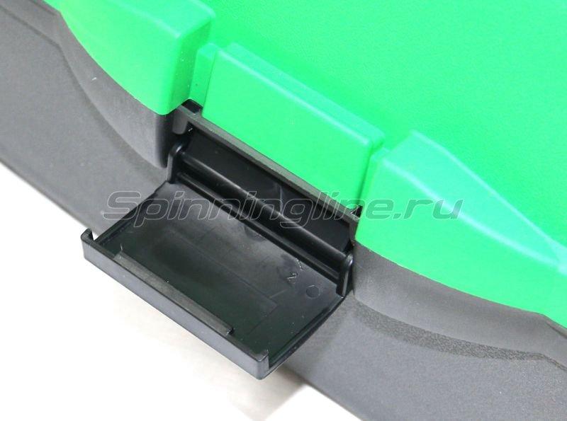 Ящик рыболовный трехполочный зеленый Helios -  4