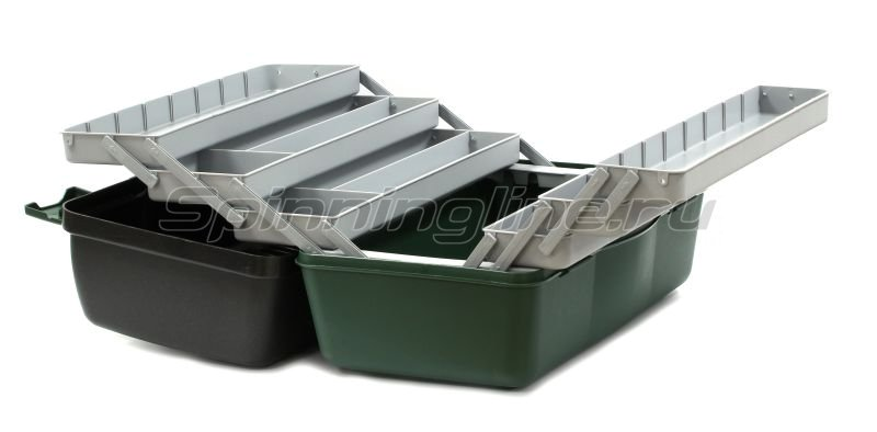 Ящик Nautilus 138 Tackle Box 6-tray green-gray - фотография 3