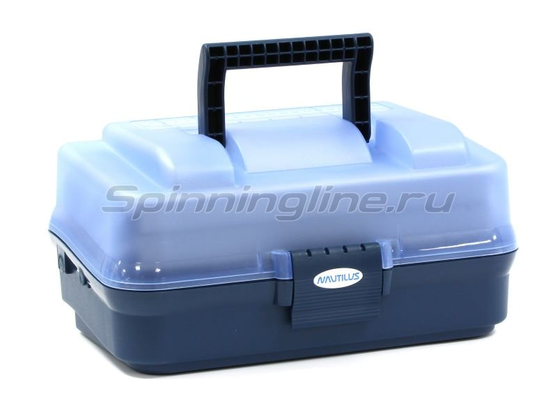 Ящик Nautilus 143 Tackle Box 2-tray clear blue-blue -  1