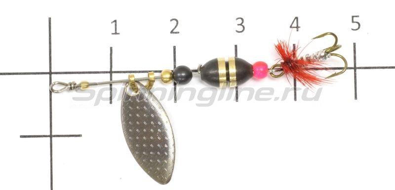 Блесна Вьюнова 1д 1,63гр нейзильбер -  3
