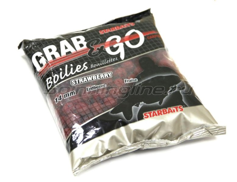 Бойлы Starbaits Performance Baits Grab&Go Strawberry 14мм 0,5кг - фотография 1