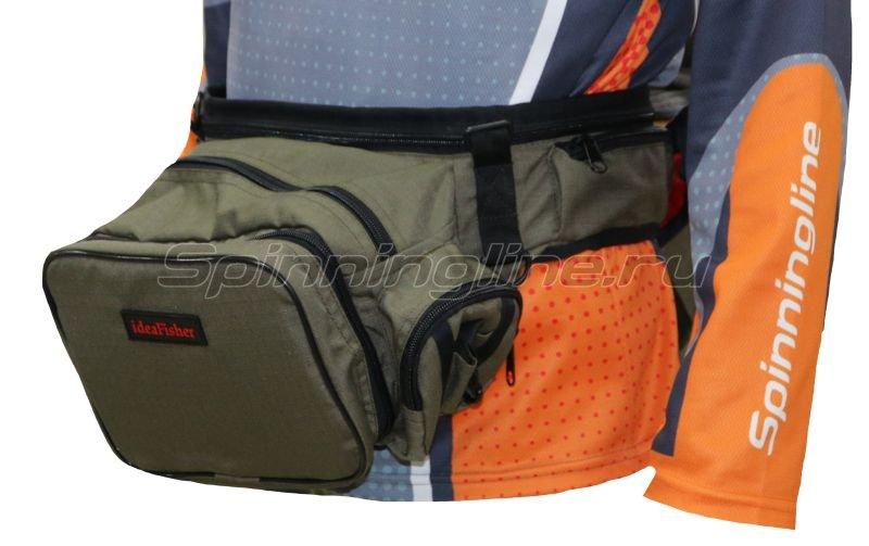 IdeaFisher - Поясная сумка с держателем и чехлом для удилища Stakan Stradivari олива - фотография 1