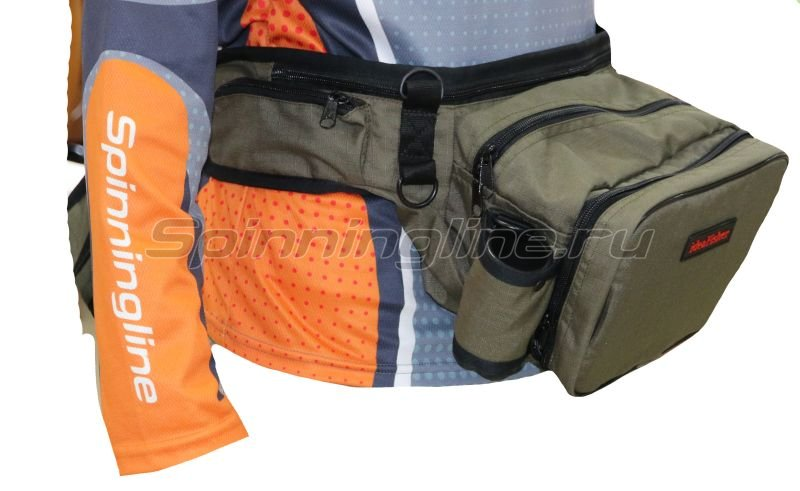 IdeaFisher - Поясная сумка с держателем и чехлом для удилища Stakan Stradivari олива - фотография 2