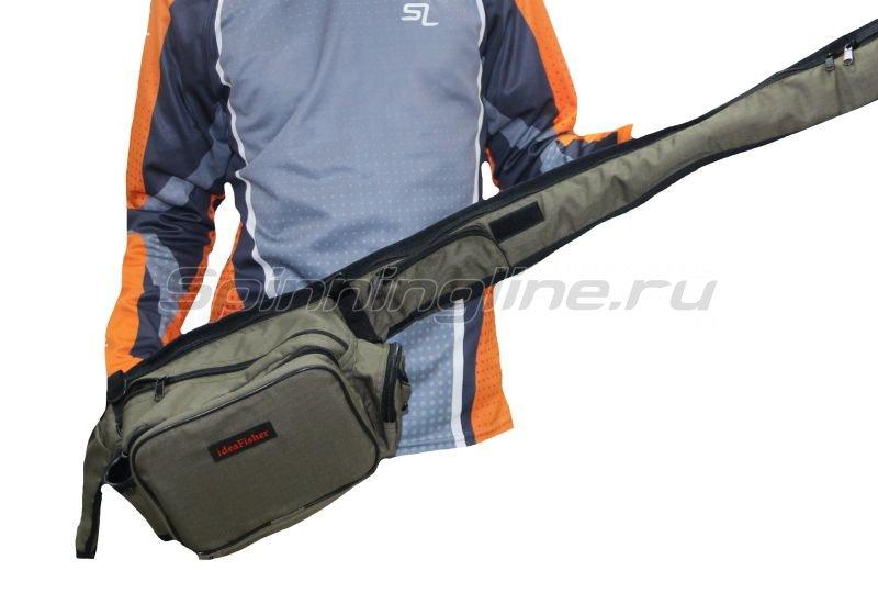 IdeaFisher - Поясная сумка с держателем и чехлом для удилища Stakan Stradivari олива - фотография 3