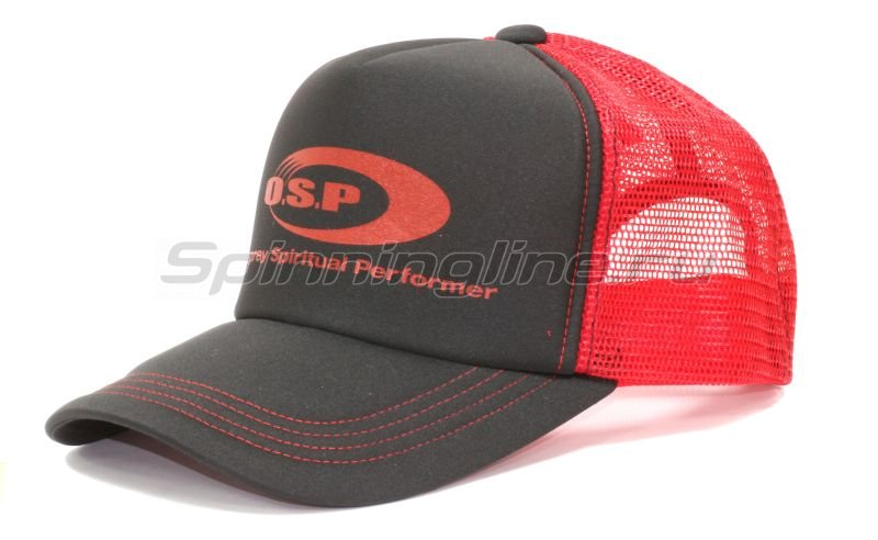 Кепка O.S.P Logo Mesh Cap Black Red - фотография 1