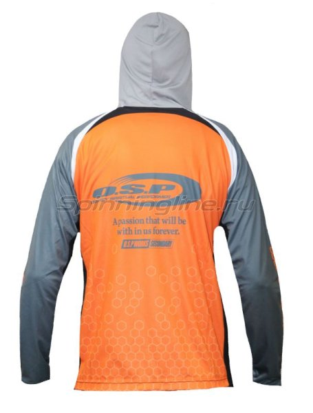 Толстовка O.S.P Hooded Long Sleeve T-Shirts Model5 NEW Orange M -  2