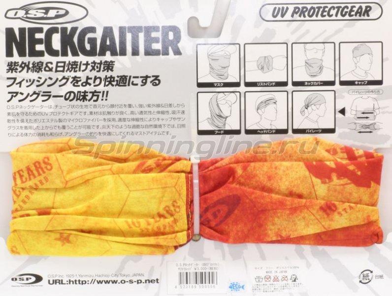 Бандана O.S.P Neck Gator Scarlet Gray -  3