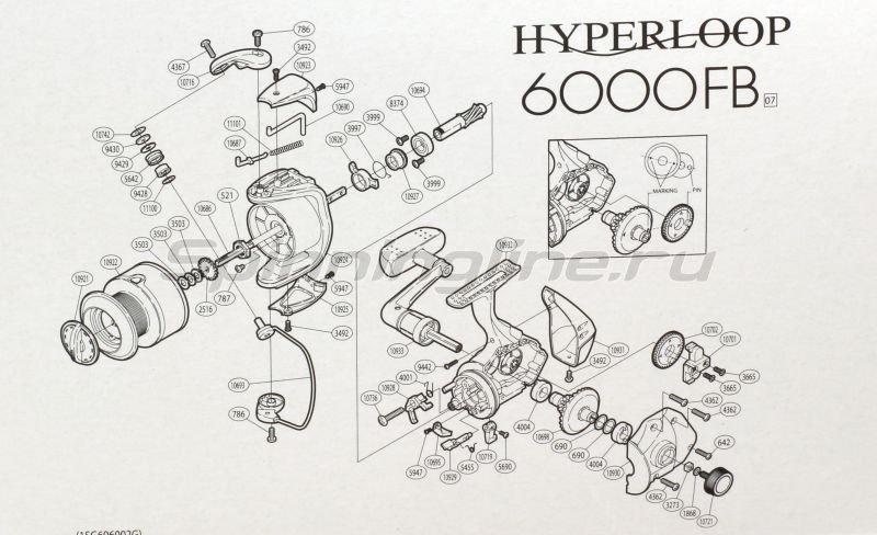 Shimano - Катушка Hyperloop 6000 FB - фотография 6