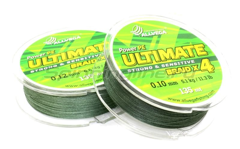 Шнур Ultimate 135м 0,12мм dark green -  3