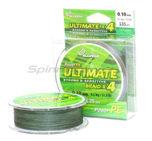 Шнур Ultimate 135м 0,14мм dark green -  1