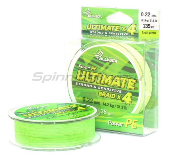 Шнур Ultimate 135м 0,14мм light green -  1