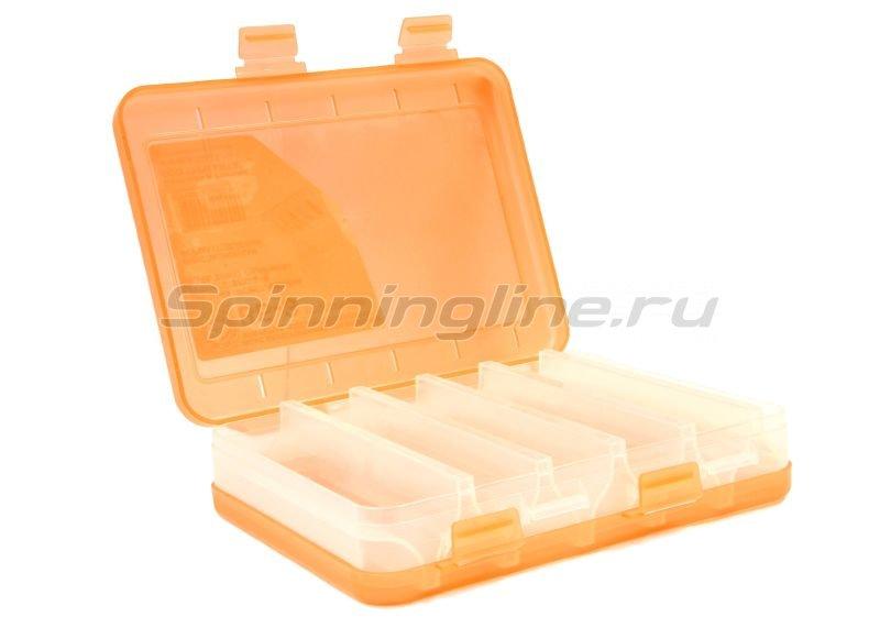 Коробка Три Кита для воблеров и балансиров ВБ-3 оранжевая - фотография 2