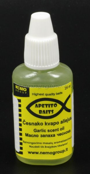 Аттрактант Apetito Baits Garlic scent oil 25мл - фотография 1