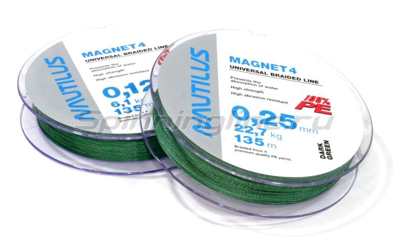 Nautilus - Шнур Magnet 4 Green 135м 0,27мм - фотография 1
