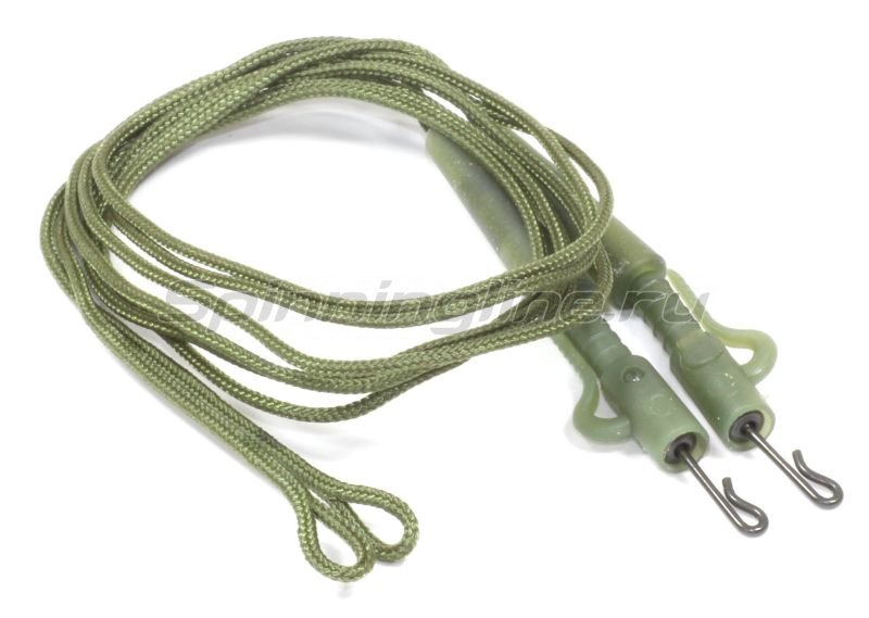 Carpe Diem - Противозакручиватель оснащенный Safety Clips Rig Leadcre 45lb 60см green - фотография 1