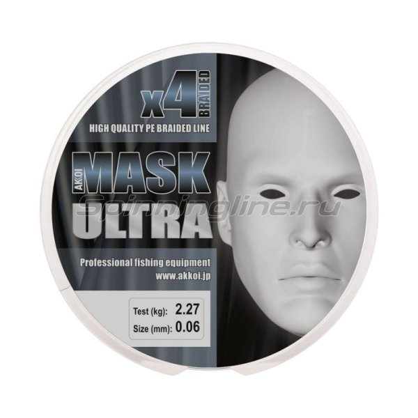 Akkoi - Шнур Mask Ultra X4 Green 100м 0,16мм - фотография 4