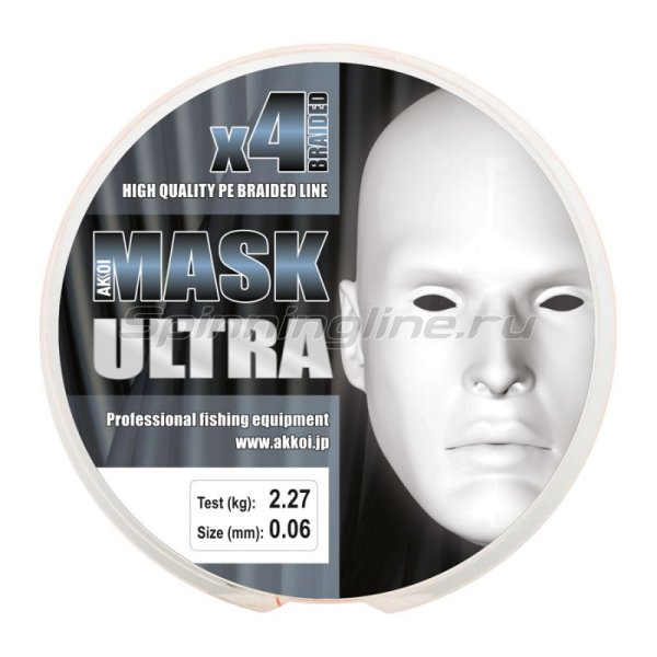 Akkoi - Шнур Mask Ultra X4 Orange 110м 0,18мм - фотография 4
