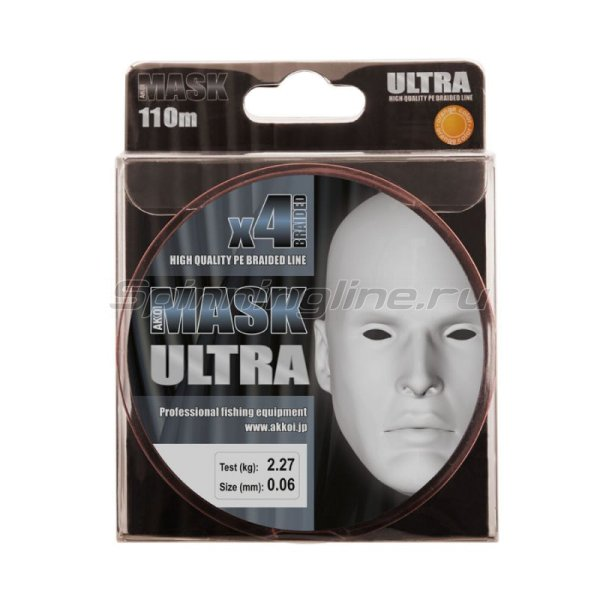 Akkoi - Шнур Mask Ultra X4 Orange 110м 0,18мм - фотография 5