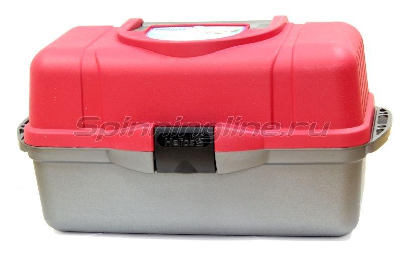 Ящик Helios рыболовный трехполочный красный -  1