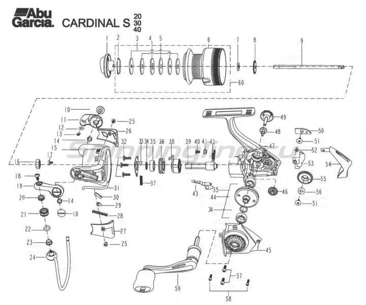 Катушка Abu Garcia Cardinal S 30FD -  7