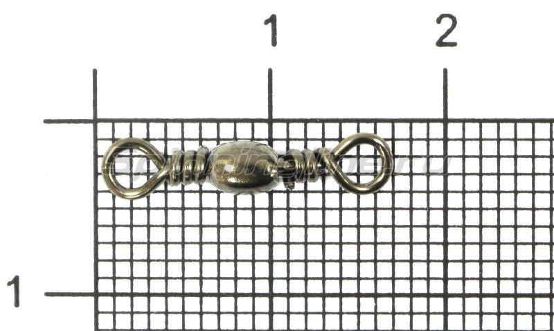 Metsui - Вертлюг Brass Barrel Swivel new black №10 - фотография 1