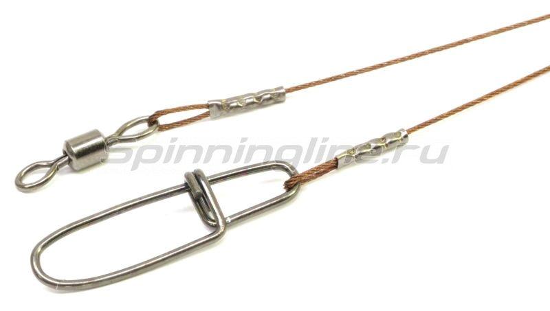 Поводок Wire Innovation 7х7 AFW 18кг 50см - фотография 1