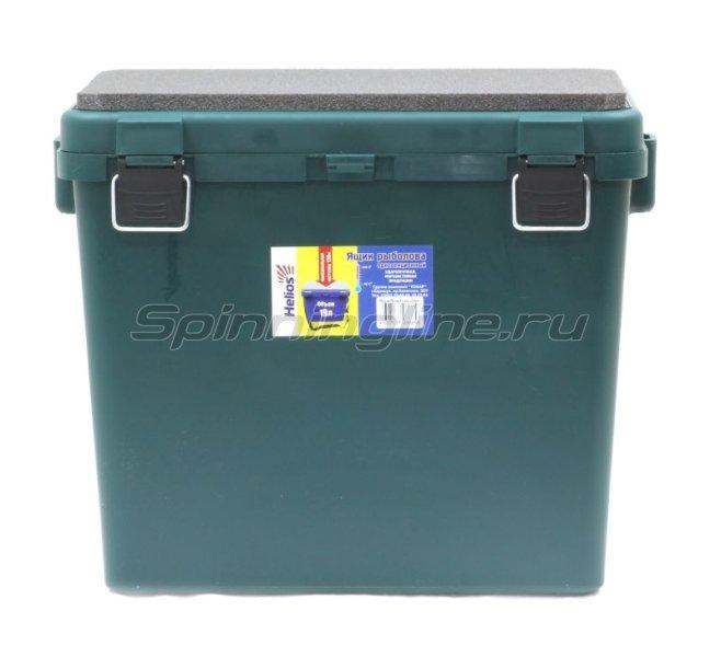 Ящик рыболовный зимний Helios односекционный зелены уценка -  2