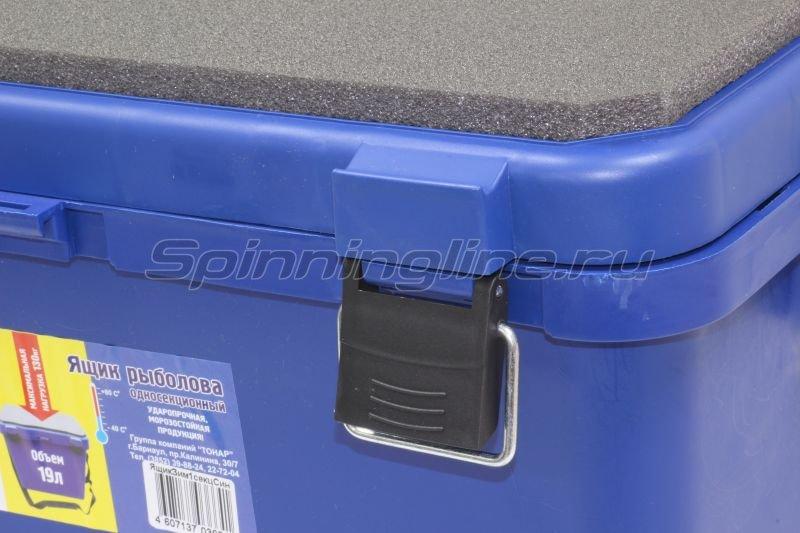 Тонар - Ящик рыболовный зимний Helios односекционный синий - фотография 2