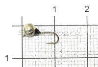 Мормышка Дробинка с наплывом с ушком d4 203-008 серебро, черный наплыв