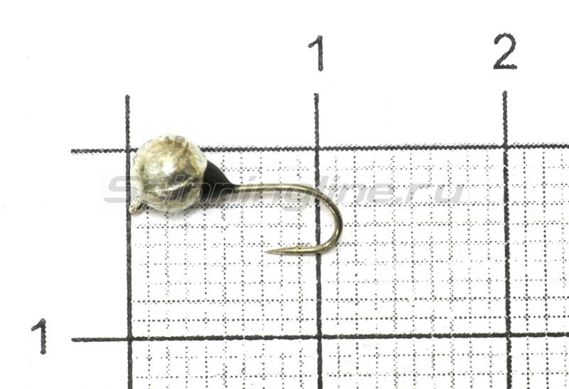 Nautilus - Мормышка Дробинка с наплывом с ушком d4 203-008 серебро, черный наплыв - фотография 1