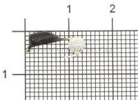 Мормышка True Weight Гвоздешарик кошачий глаз d.2.5 белый кр.hayabusa