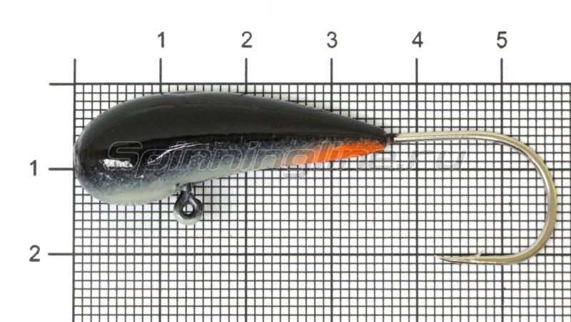 Мормышка Fish Gold судаковая Уралка Светлячок кр. Gamakatsu 22гр черный -  1