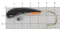 Мормышка Fish Gold судаковая Уралка Светлячок кр. Gamakatsu 32гр черный