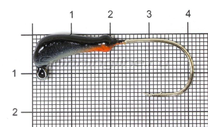 Fish Gold - Мормышка судаковая Банан Светлячок 4гр черный кр. Gamakatsu - фотография 1