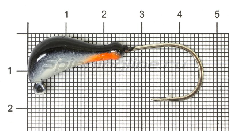 Fish Gold - Мормышка судаковая Банан Светлячок кр. Gamakatsu 11гр черный - фотография 1