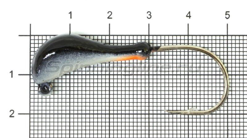 Fish Gold - Мормышка судаковая Банан Светлячок кр. Gamakatsu 14гр черный - фотография 1