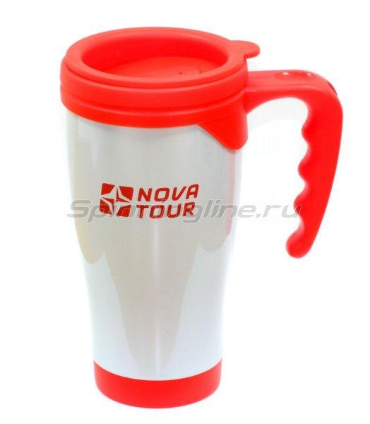 Nova Tour - Термокружка Сильвер 400 серый/красный - фотография 1