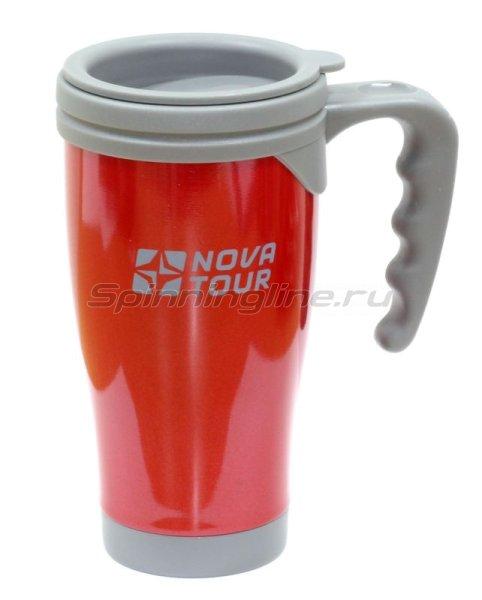 Nova Tour - Термокружка Сильвер 400 красный/серый - фотография 1
