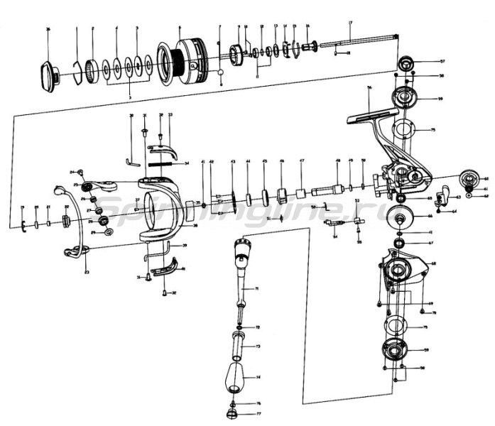 Катушка Stinger Aggregate SF 3510 -  8