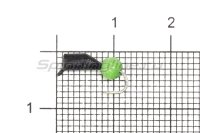 Мормышка True Weight Гвоздешарик кошачий глаз d.2.5 зеленый кр.hayabusa
