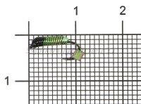 Мормышка Ручейник №1 d1 кубик хамелеон, зеленый