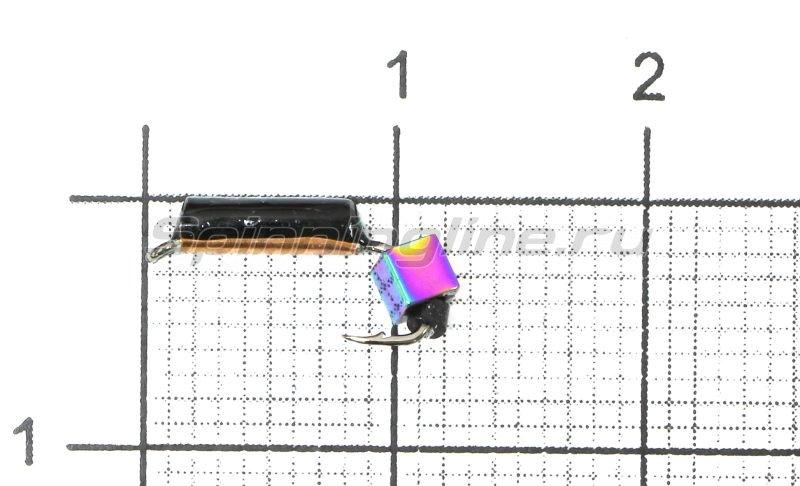 Мормышка Санхар Столбик №1 d1.5 кубик хамелеон, медь -  1