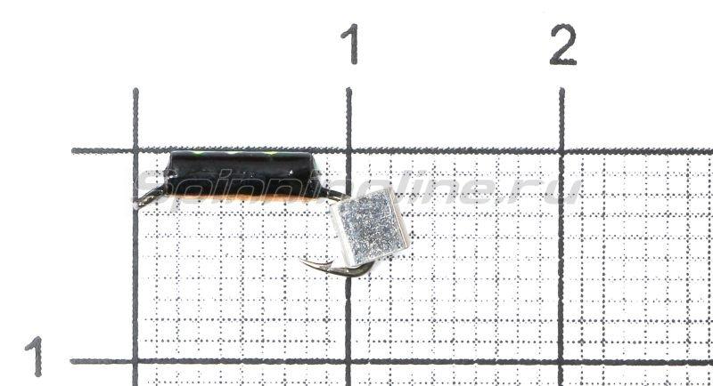 Мормышка Санхар Столбик №1 d1.5 серебряный кубик, медь -  1