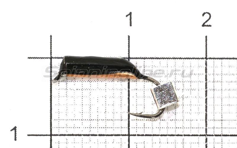Мормышка Санхар Столбик №5 d2 серебряный кубик, медь -  1