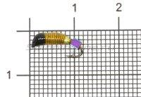 Мормышка Ручейник №2 d1.5 кубик хамелеон, желтый